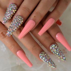 NWT long pink nails